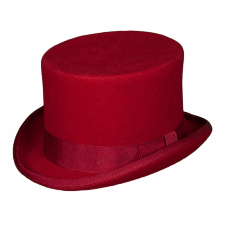 Christys Fashion Top Hat rot