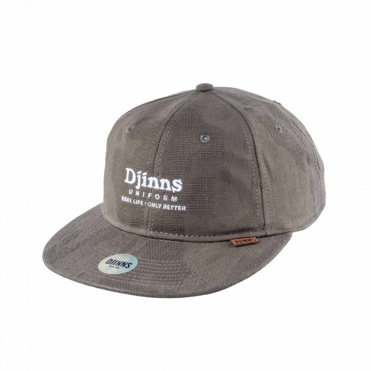 Djinns 6 Panel Snapback Cap Deconstructed Real Better olive