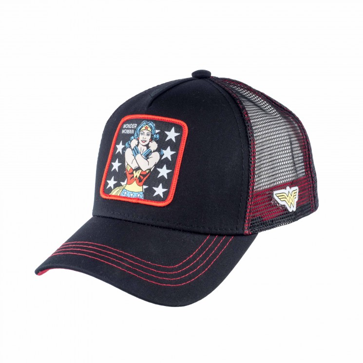 Capslab Wonder Woman Trucker Cap schwarz