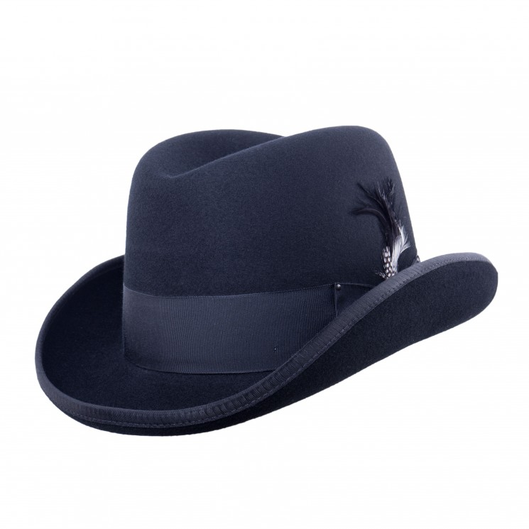 Bailey Godfather Wollfilz Hut Homburg schwarz