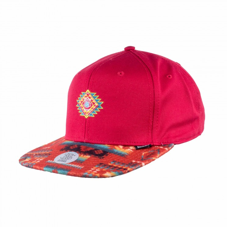 Djinns 6 Panel Snapback Cap Aztek Crown rot