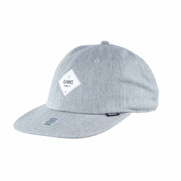 Djinns 6 Panel Snapback Deconstructed grau
