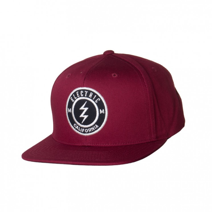 Electric Pensacola II Snapback Cap bordeaux