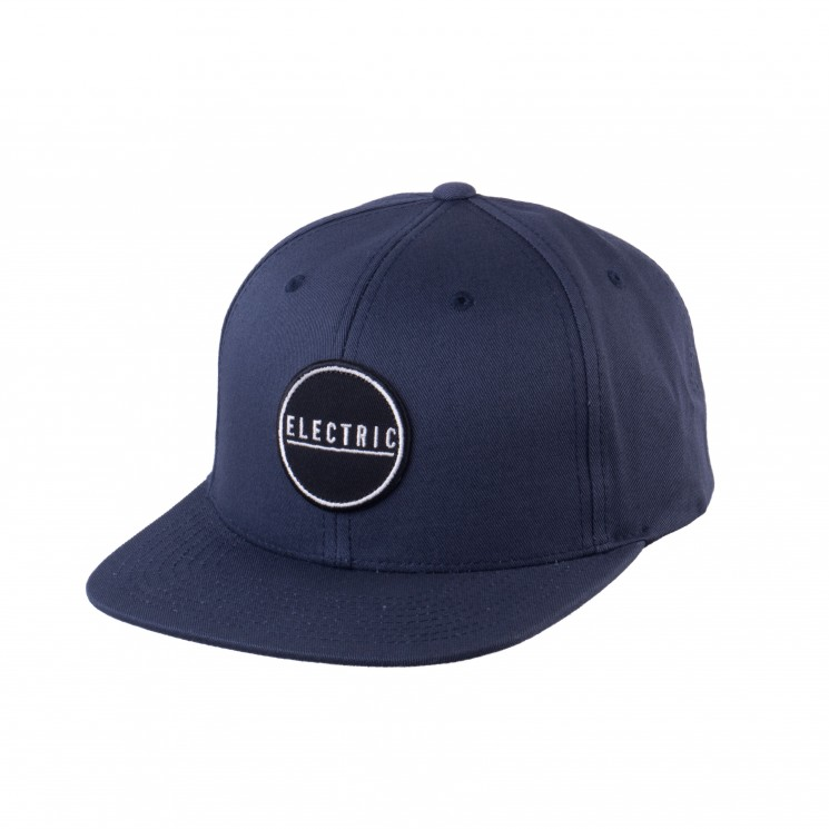 Electric Rubber Stamp Snapback Cap navy