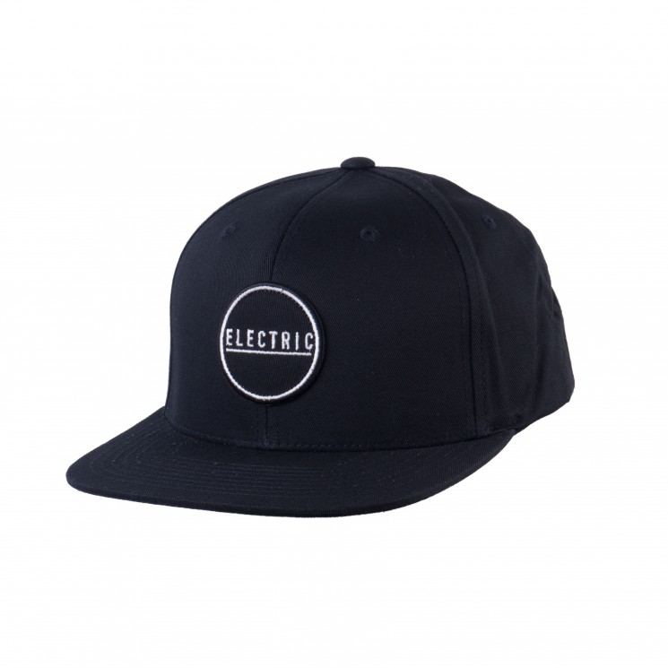Electric Rubber Stamp Snapback Cap schwarz