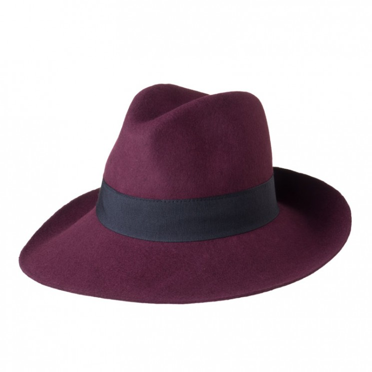 Fashion Fedora Catania bordeaux