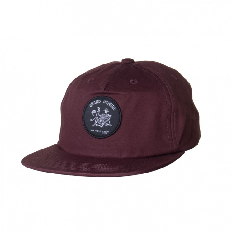Grand Scheme Castaway Cap bordeaux
