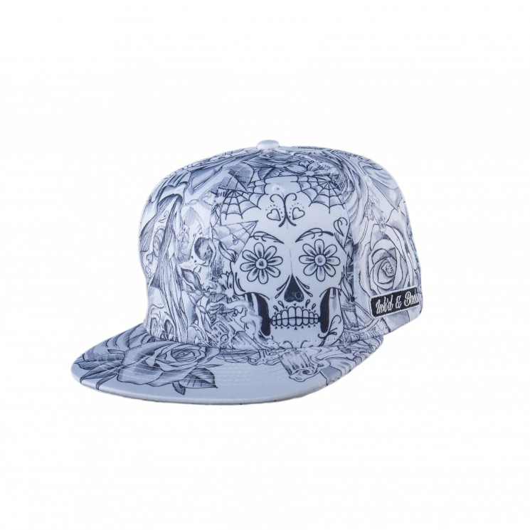 Lauren Rose Tattoo Snapback weiß