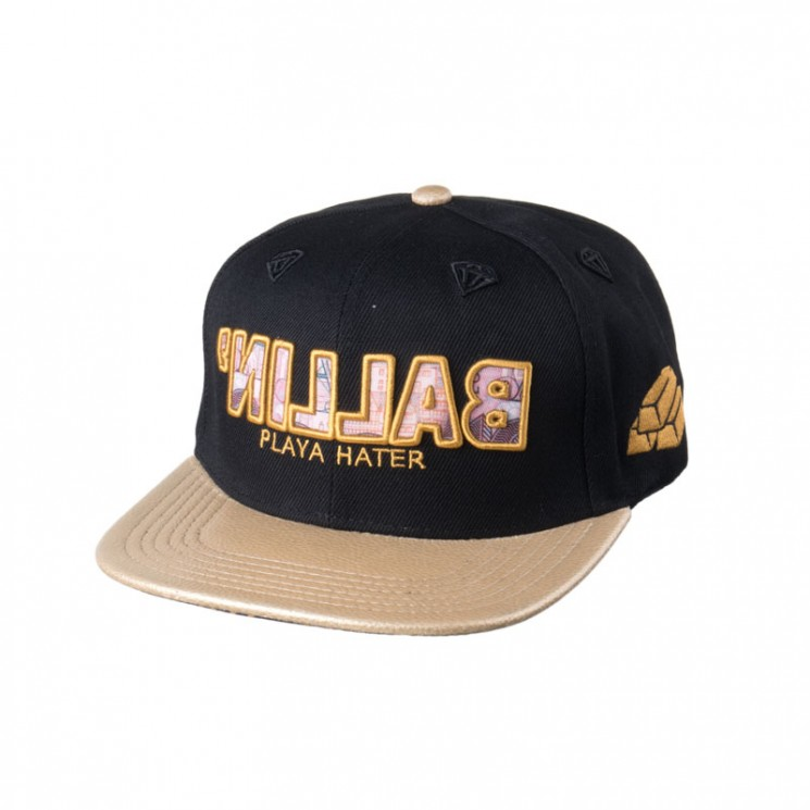 Lauren Rose Ballin Gold Snapback