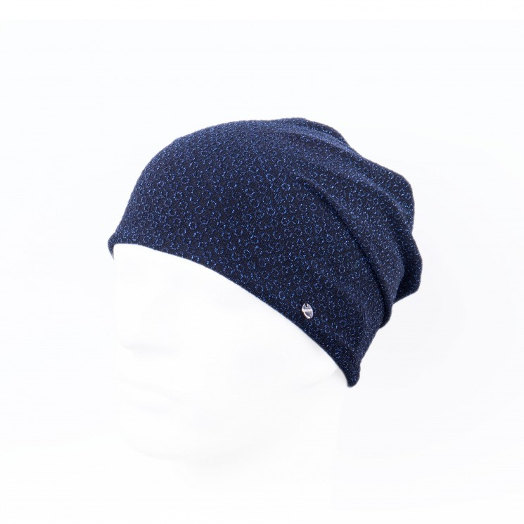 Mirage Glitter Long Beanie blau