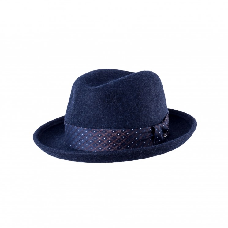 Mirage Jazz Trilby Hut blau-melange
