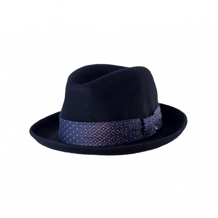 Mirage Jazz Trilby Hut schwarz