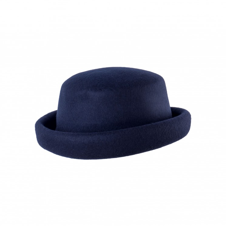 Mirage Pork Pie Mixed Bowler Hat blau