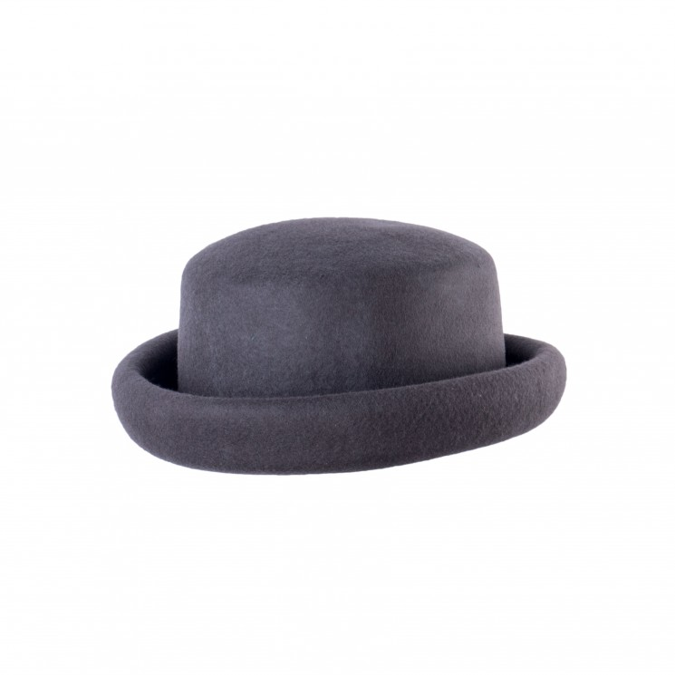 Mirage Pork Pie Mixed Bowler Hat taupe