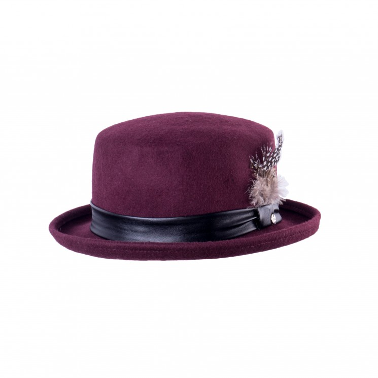 Mirage Top Hat Wollhut Zylinder bordeaux
