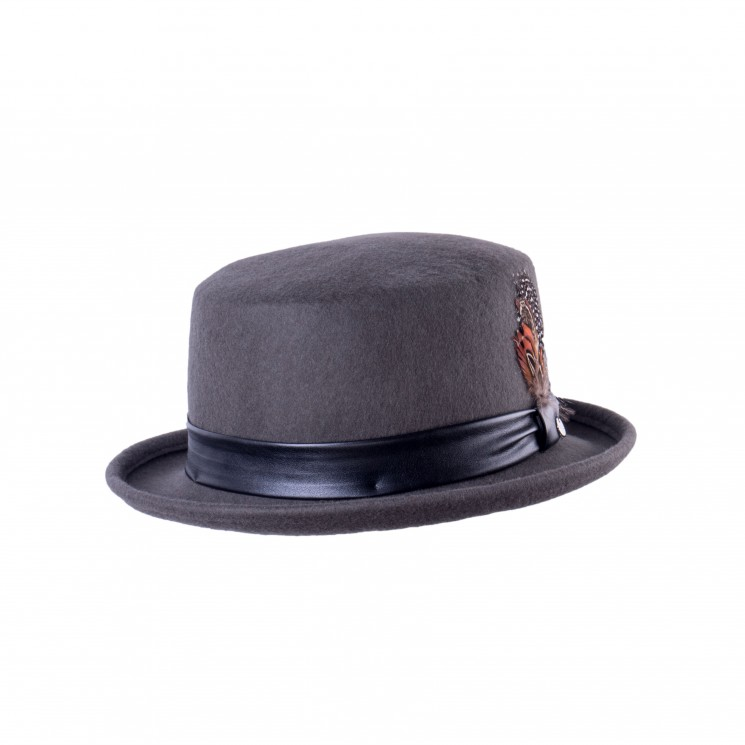 Mirage Top Hat Wollhut Zylinder taupe-grau