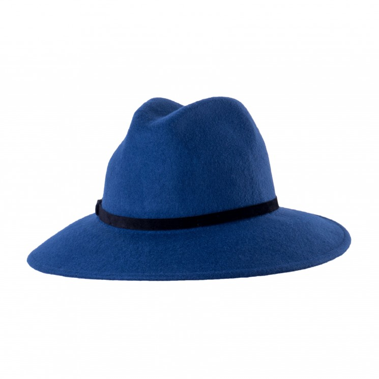 Mirage Wollfilz Fedora Hut Chain hellblau