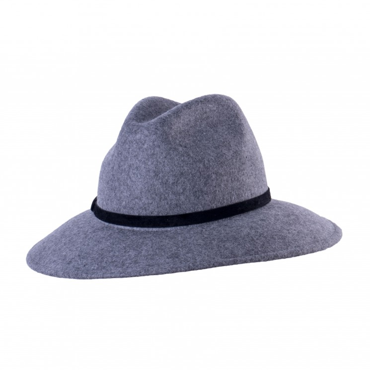Mirage Wollfilz Fedora Hut Chain grau