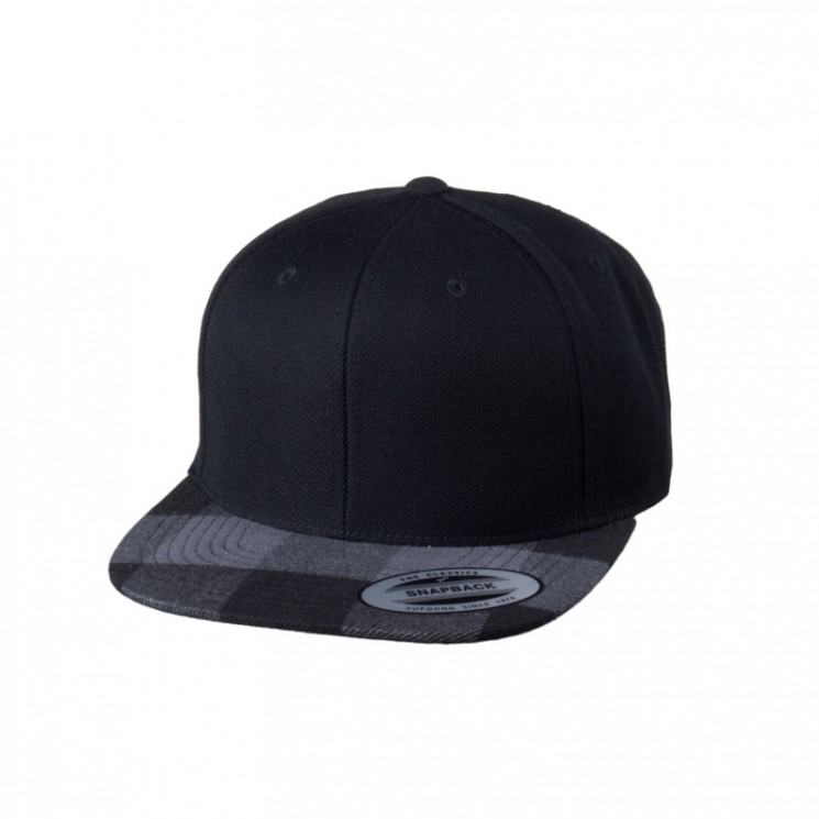 Snapback Peak Checked Flanell