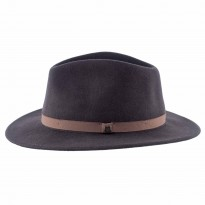 Brixton Messer Packable Fedora braun