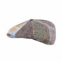 Fiebig Bakerboy Patchwork Harris Tweed oliv