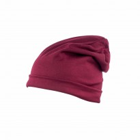 Long Beanie Mütze bordeaux