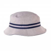 Kangol Stripe Lahinch Bucket Hat grau