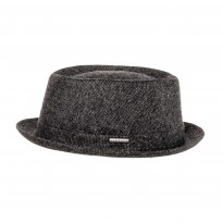 Stetson Pork Pie Wool anthrazit